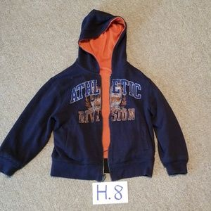 H.8 - Faded glory reversible coat (size 6-7)